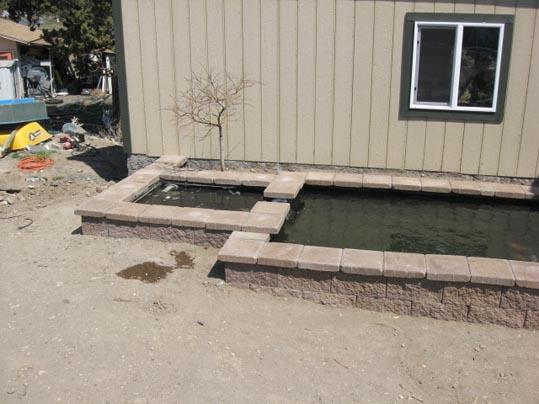Image result for cinder block pond