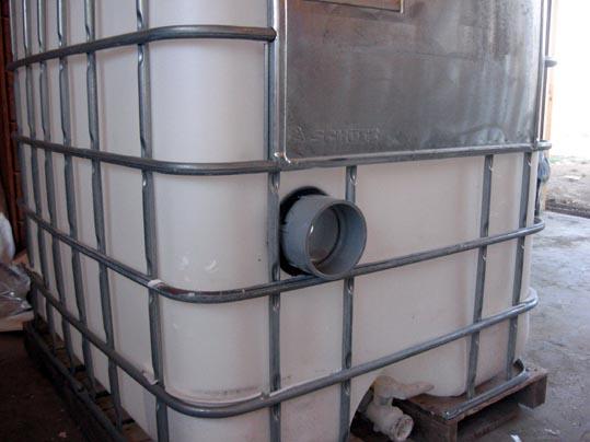 Diy 330 gallon settling tank for Settlement tank for koi pond
