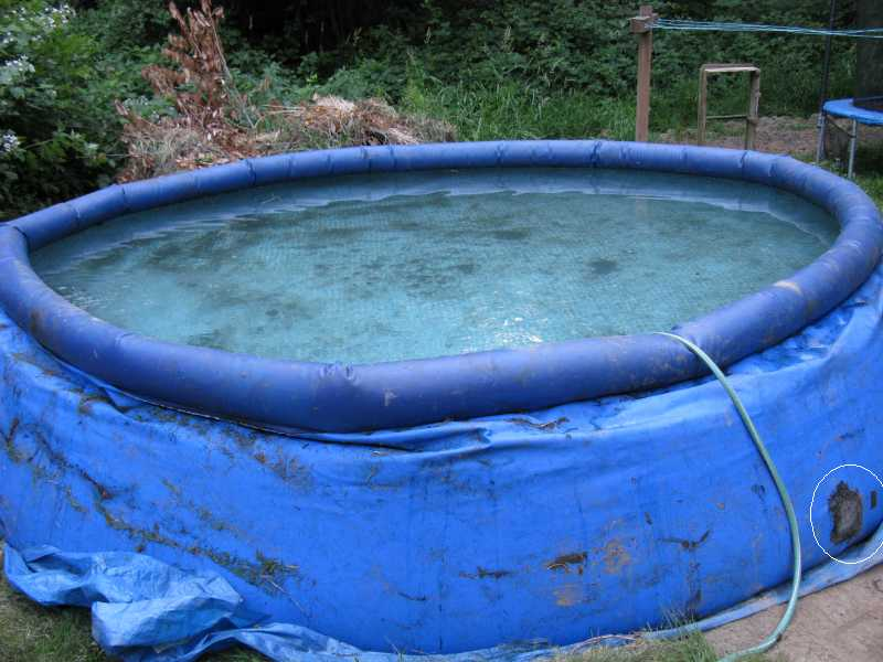 How to fix intex pool tear - How to fix a hole in a swimming pool ...