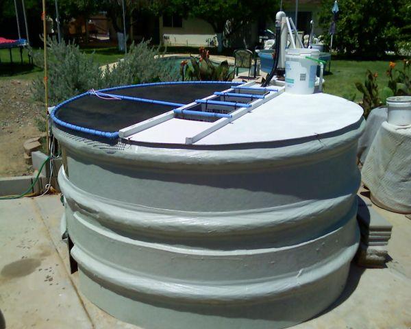 Big Fiberglass Koi Tank