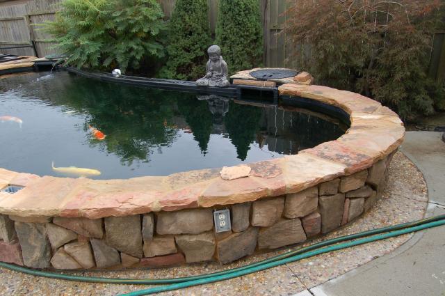 Wrinkles in the pond liner for Best koi pond liner