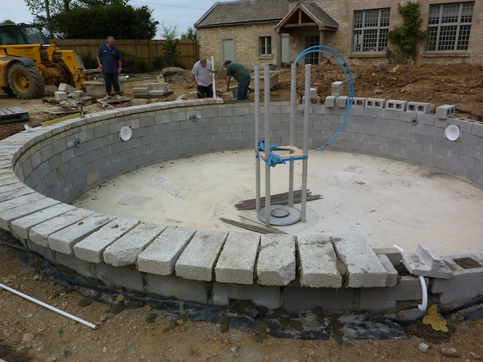 Eric And A Fountain Pond Build