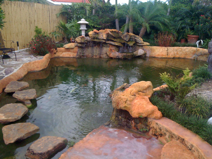 Another open water koi pond 13 000 us gal for Koi pond gallons