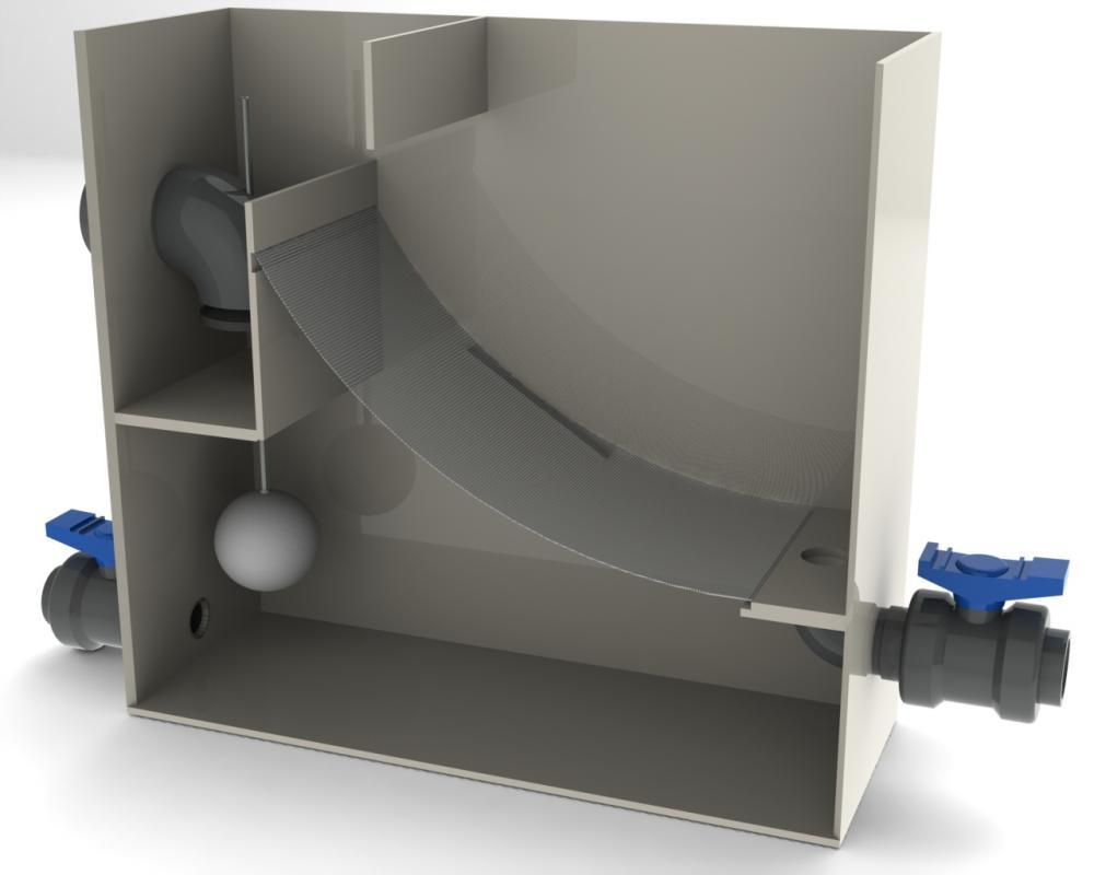 Diy gravity feed sieve filter for Diy koi pond filtration