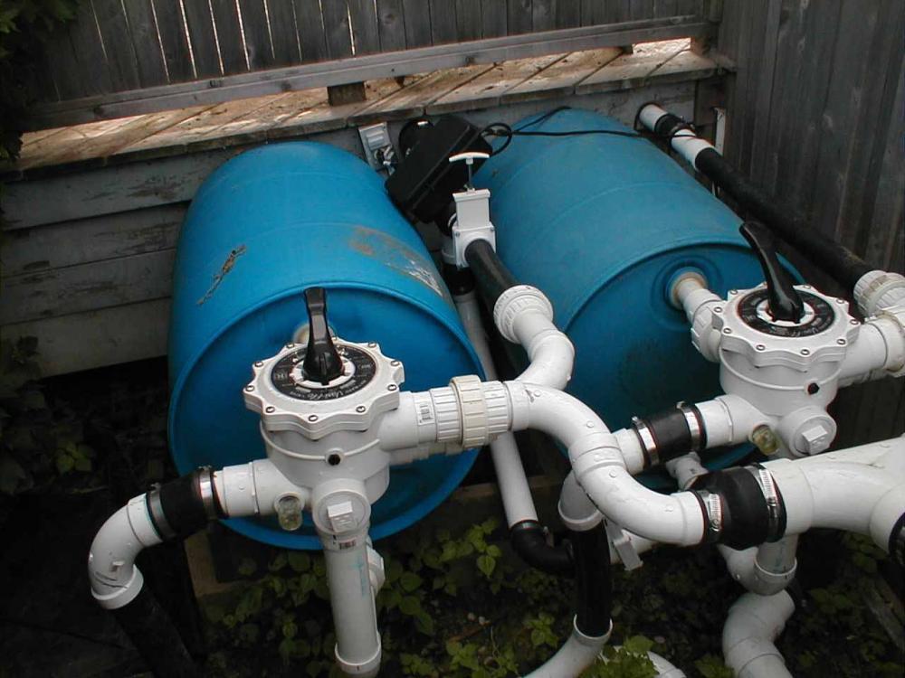 Diy bead filter for Koi pond sand filter