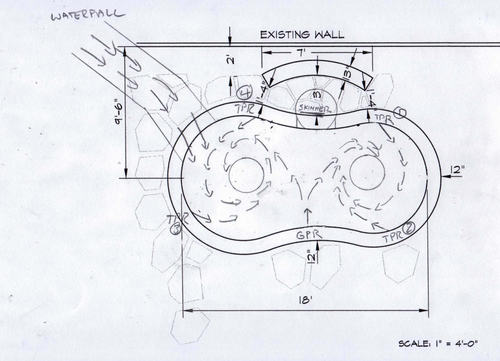 New koi pond construction plumbing filter design for Pond filter diagram
