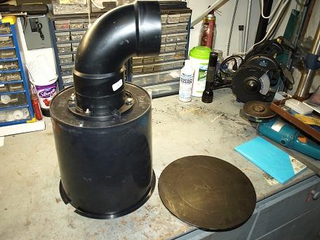 Diy jumbo no niche skimmer for Homemade skimmer filter