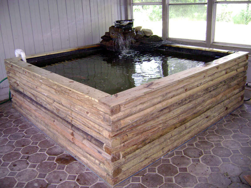 diy wooden koi pond woodguides ForWooden Koi Pool
