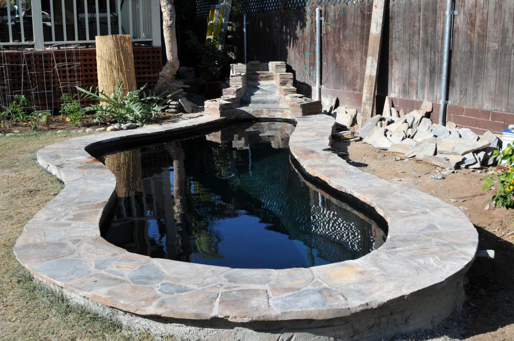 New koi pond construction plumbing filter design for 100 gallon pond filter