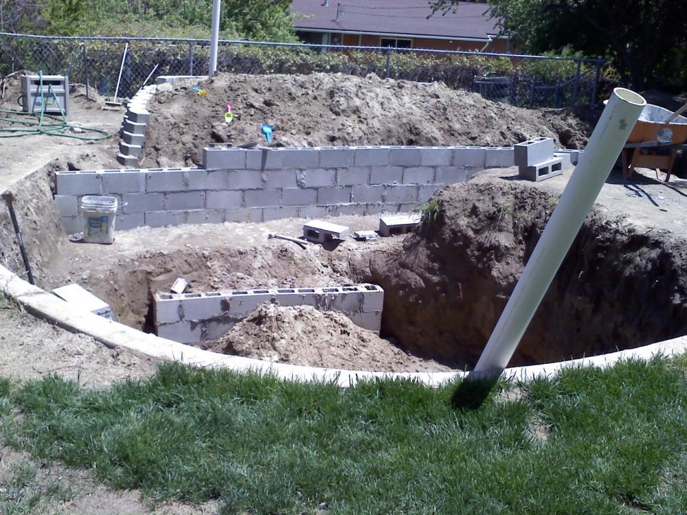 My estimated 12 000 gallon koi pond build for Koi pond forum