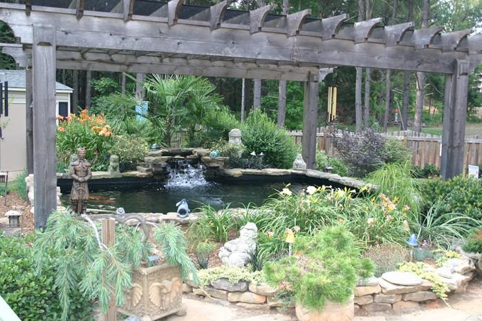 Pergola build for Koi pond shade ideas
