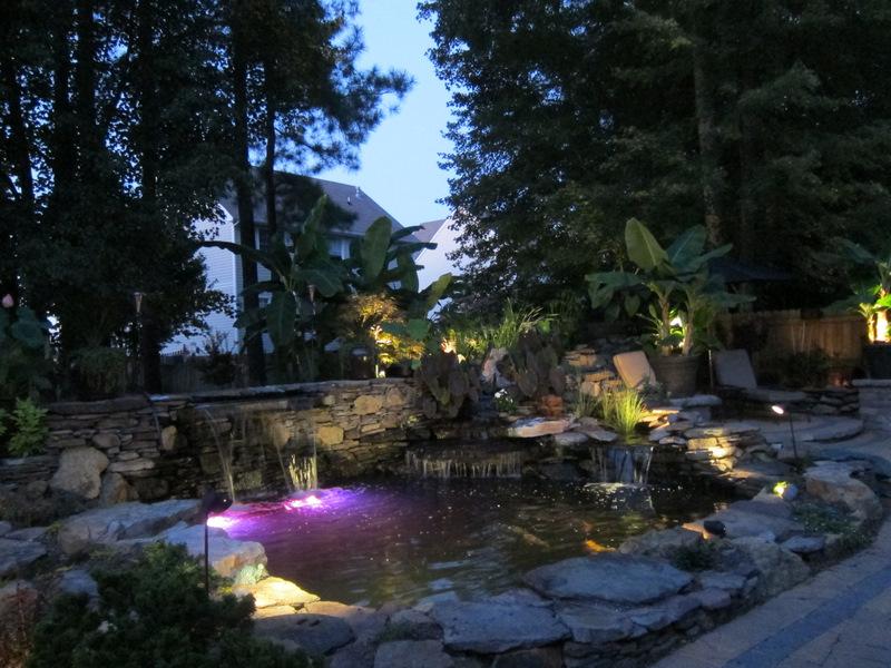 Pond lighting for Koi pond lights