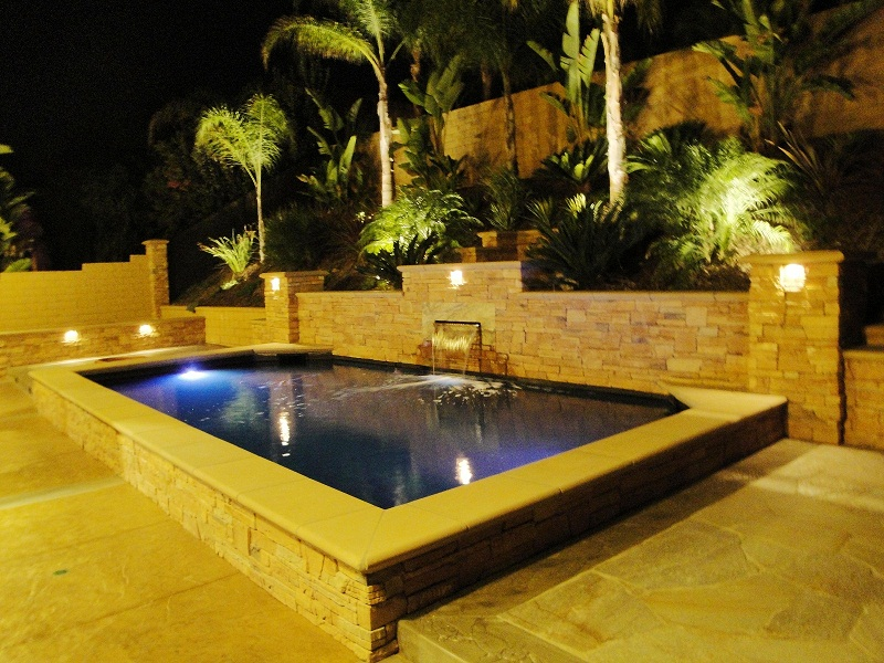 Raised pond height for Koi show pool