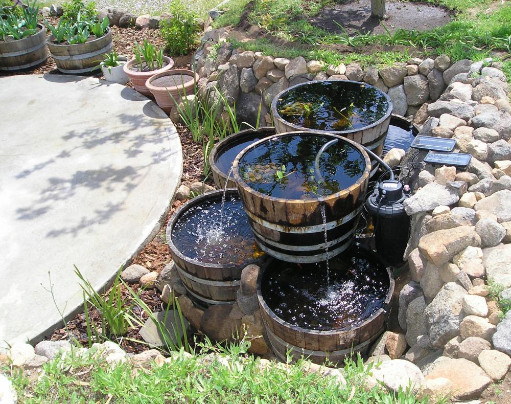 1 2 Wine Barrel As A Water Garden Suggestions Please