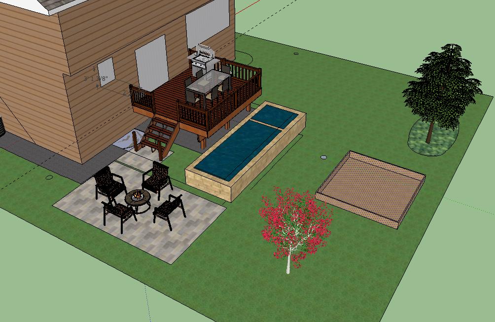 Raised formal backyard koi pond for Raised koi pond ideas