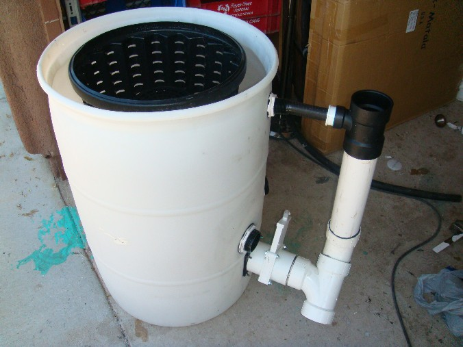 Settlement chamber volume for Diy pond pump pre filter