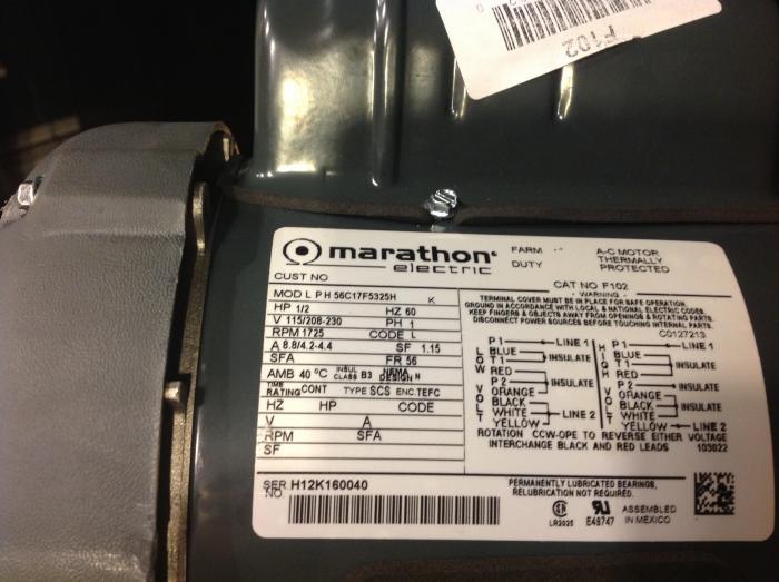 Marathon Electric Motor Wiring | Marathon Motor Wiring Diagram Marathon Phase Brake Motor Wiring