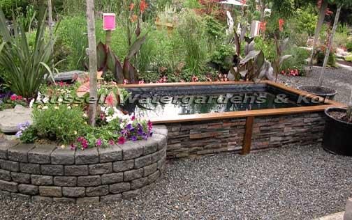 build wood koi pond