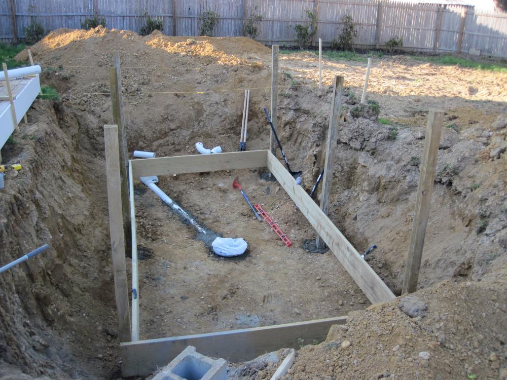 Inground Above Ground Pond Build