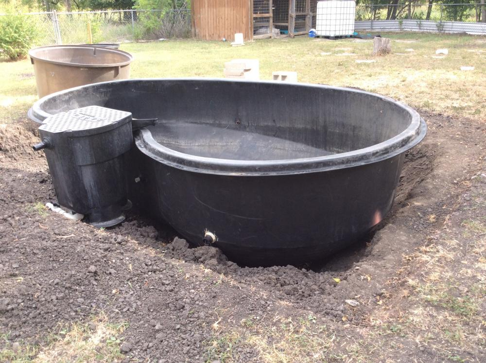 Pre formed koi pond for Koi pond return jets