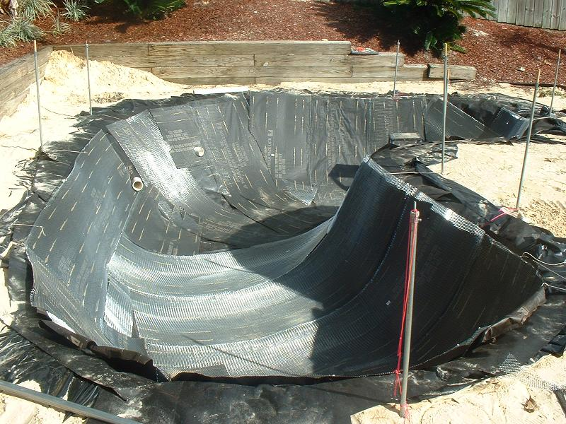 Cement pond build for How to build a concrete pond