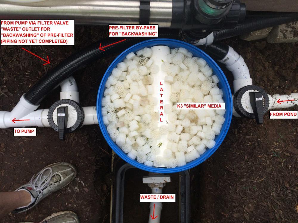 Diy pressurized pre filter for Pond pre filter diy