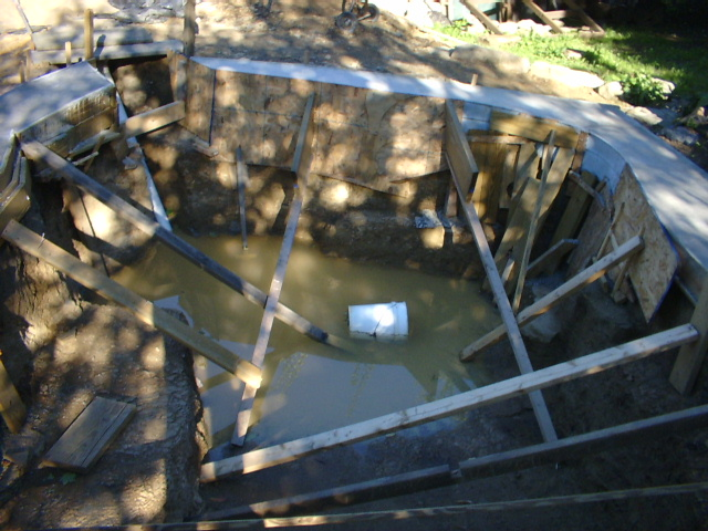 Installing the koi village aerated bottom drain for Koi pool bottom drain