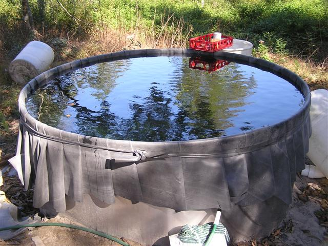 Dancing with my pond liner for How to build a grain bin swimming pool