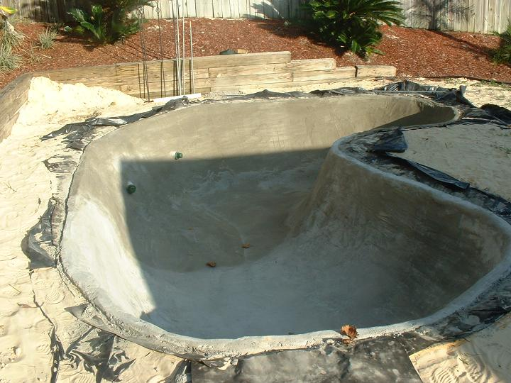 Mortar lined ponds for Concrete pond construction