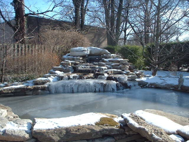Covering your pond where winter is cold for Koi pond in winter