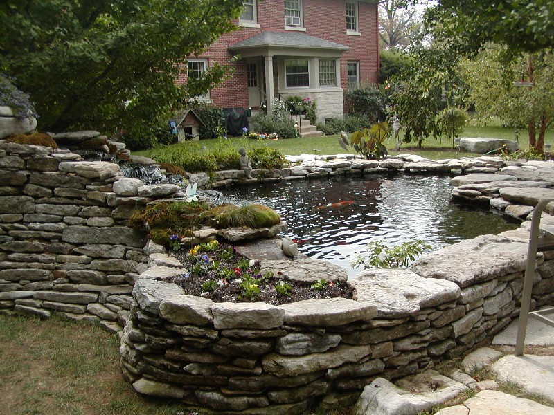 Semi raised ponds for Koi pond forum