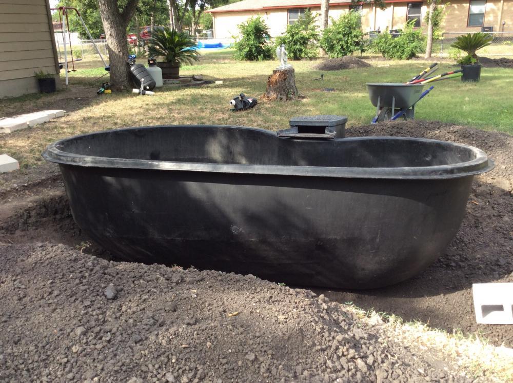 Preformed pond filtration plumbing need help please for Preformed fish ponds